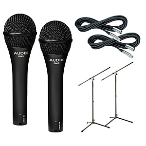 Audix-OM-5-Mic-with-Cable-and-Stand-2-Pack-Standard