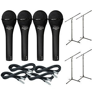 Audix-OM-5-Mic-with-Cable-and-Stand-4-Pack-Standard