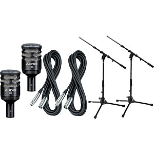 Audix-D6-Kick-Drum-Mic-with-Cable-and-Stand-2-Pack-Standard