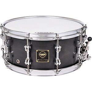 GMS-Revolution-Maple-Steel-Snare-Drum-5-5x14-Midnight-Black