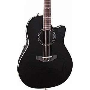 Ovation-Standard-Balladeer-2771-AX-Acoustic-Electric-Guitar-Black