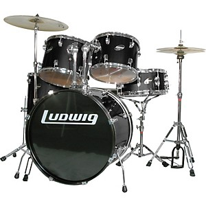 Ludwig-Accent-Combo-5-piece-Drum-Set-Black