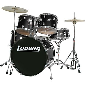 Ludwig-Accent-Combo-with-Zildjian-ZBT-Cymbal-Set-Black