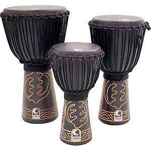 Toca-Synergy-Black-Mamba-Djembe-with-Bag-and-Djembe-Hat-12-In