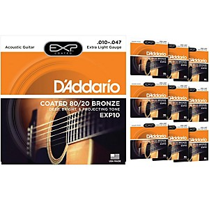 D-Addario-EXP10-Coated-80-20-Bronze-Extra-Light-Acoustic-Guitar-Strings----10-Pack-Standard