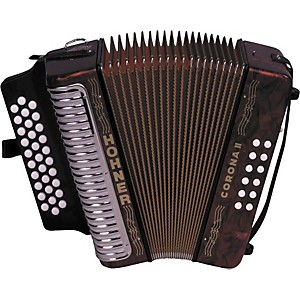 Hohner-3500-Corona-II-FBbEb-Diatonic-Accordion-Red-Pearl