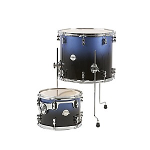 PDP-Platinum-Lacquer-2-Piece-Tom-Drum-Pack-Blue-to-Black-Fade