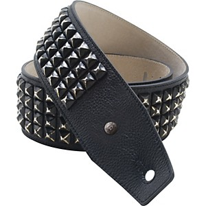 Dunlop-BMF-Leather-Guitar-Strap-with-Distressed-Black-Studs-Standard