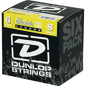 Dunlop-Nickel-Plated-Steel-Electric-Guitar-Strings-Extra-Light-6-Pack-Standard