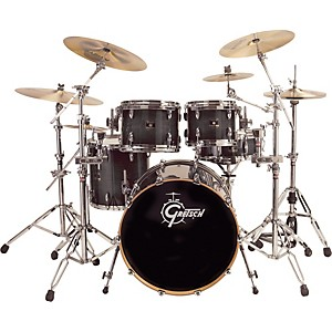Gretsch-Drums-Renown-4-Piece-Shell-Pack-with-Free-8--Tom-Transparent-Ebony-Lacquer