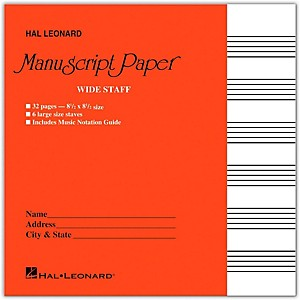 Hal-Leonard-Wide-Staff-Manuscript-Paper--Red-Cover--Standard