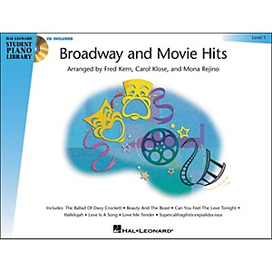 Hal-Leonard-Broadway-And-Movie-Hits-Level-1-Book-CD-Hal-Leonard-Student-Piano-Library-Standard