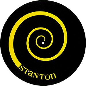 Stanton-DSM-6-Yellow-on-Black-Slipmats-with-Scratch-Discs-Standard