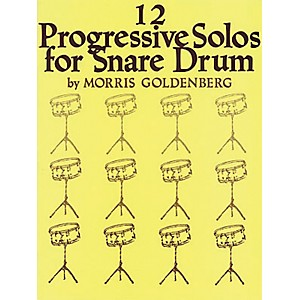 Hal-Leonard-12-Progressive-Solos-For-Snare-Drum-Book--Standard