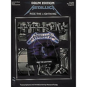 Hal-Leonard-Metallica---Ride-The-Lightning-Drum-Book-Standard