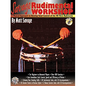 Alfred-Savage-Rudimental-Workshop--Book-CD--Standard