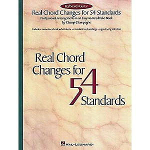 Hal-Leonard-Real-Chord-Changes-For-54-Standards-Fake-Book--Standard