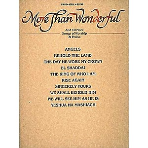 Hal-Leonard-More-Than-Wonderful---Ten-Songs-Of-Worship---Praise-Piano--Vocal--Guitar-Songbook-Standard
