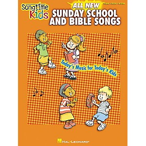 Hal-Leonard-Songtime-Kids-All-New-Sunday-School-and-Bible-Songs-Piano--Vocal--Guitar-Songbook--Standard