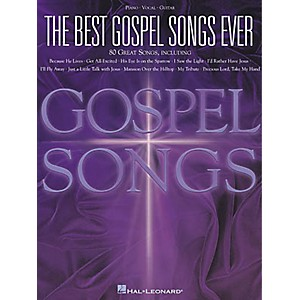 Hal-Leonard-The-Best-Gospel-Songs-Ever-Piano--Vocal--Guitar-Songbook--Standard