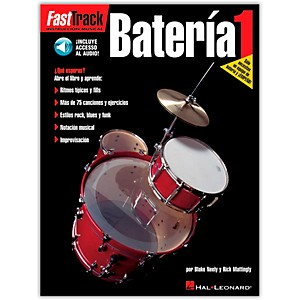 Hal-Leonard-Fasttrack-Bateria-1-Book-with-CD---Spanish-Standard