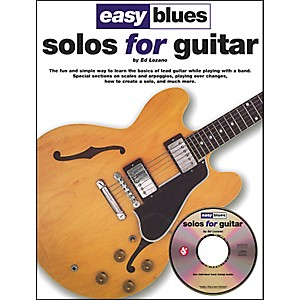 Music-Sales-Easy-Blues-Solos-For-Guitar-Book-CD-Standard