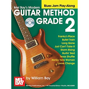 Mel-Bay-Modern-Guitar-Method-Grade-2-Blues-Jam-Play-Along-Book-and-CD-Standard