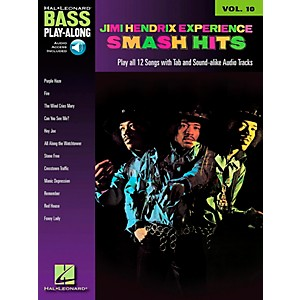 Hal-Leonard-Jimi-Hendrix-Smash-Hits--Bass-Play-Along-Series--Volume-10--Book-CD--Standard