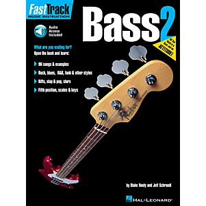 Hal-Leonard-FastTrack-Bass-Method-Book-2--Book-and-CD--Standard