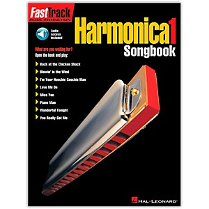Hal-Leonard-FastTrack-Harmonica-Songbook---Level-1-Book-with-CD--Standard