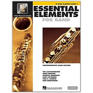 Hal-Leonard-Essential-Elements-For-Band---Bass-Clarinet-Book-1-With-EEi--Book-CD-ROM--Standard