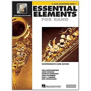 Hal-Leonard-Essential-Elements-For-Band---Alto-Saxophone-Book-1-With-EEi--Book-CD-ROM--Standard