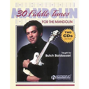 Homespun-30-Fiddle-Tunes-For-Mandolin-Taught-by-Butch-Baldassari-Book-with-CD--Standard