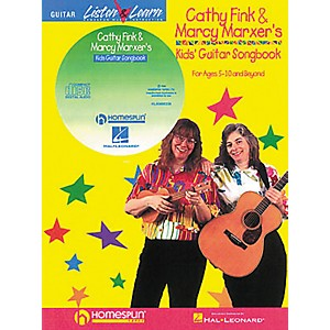 Homespun-Cathy-Fink---Marcy-Marxer-s-Kids--Guitar-Songbook-with-CD-Standard