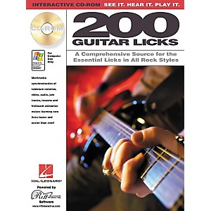 Hal-Leonard-200-Guitar-Licks--CD-ROM--Standard