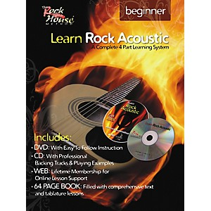 Rock-House-Learn-Rock-Acoustic-Beginner-Book-DVD-CD-Combo-Standard