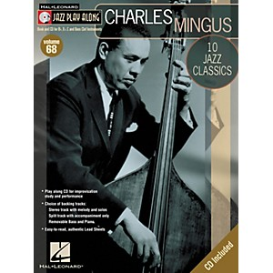 Hal-Leonard-Charles-Mingus---Jazz-Play-Along-Volume-68-Book-with-CD-Standard