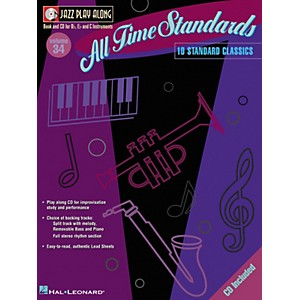 Hal-Leonard-All-Time-Standards--Jazz-Play-Along-Volume-34-Book-with-CD-Standard