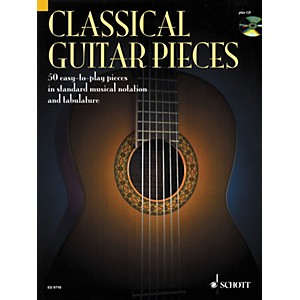 Schott-Classical-Guitar-Pieces-in-Tab---Notation-Book-with-CD--Standard