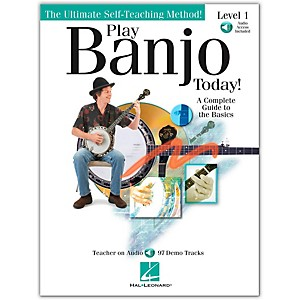 Hal-Leonard-Play-Banjo-Today--Level-One---A-Complete-Guide-To-the-Basics--Book-CD--Standard