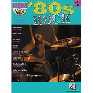 Hal-Leonard--80s-Rock-Drum-Play-Along-Volume-8---Book-CD-Standard