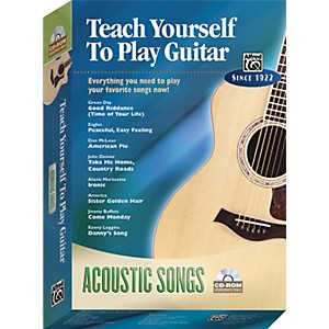 Alfred-Teach-Yourself-To-Play-Guitar--Acoustic-Songs--CD-ROM--Standard