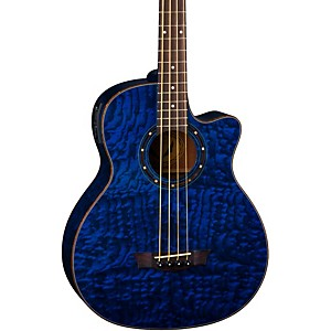 Dean-Exotica-Quilted-Ash-Acoustic-Electric-Bass-Guitar-With-Aphex-Blue