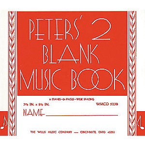 Willis-Music-Peters--Blank-Music-Book-2-Standard