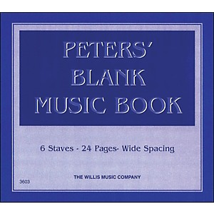 Willis-Music-Peters--Blank-Music-Book-1-Standard