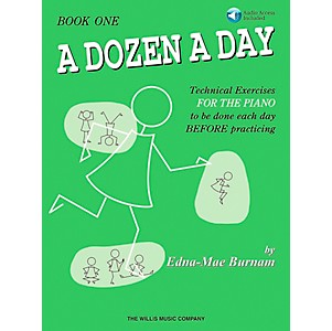 Willis-Music-A-Dozen-A-Day-Book-1-Book-CD-Standard