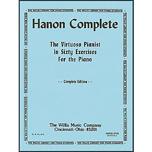 Willis-Music-Hanon-Complete--The-Virtuoso-Pianist-In-Sixty-exercises-For-Piano--Standard