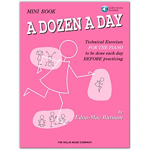 Willis-Music-A-Dozen-A-Day-Mini--Book-Bk-CD-Standard