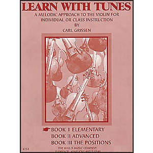 Willis-Music-Learn-With-Tunes-Book-1-Elementary-For-Violin-Standard