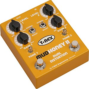 T-Rex-Engineering-Mudhoney-II-Distortion-Guitar-Effects-Pedal-Yellow
